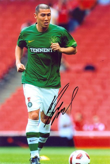 Cha Du-Ri, Glasgow Celtic, South Korea, signed 12x8 inch photo.